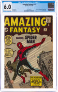 Silver Age (1956-1969):Superhero, Amazing Fantasy #15 (Marvel, 1962) CGC FN 6.0 Cream to off-white pages....