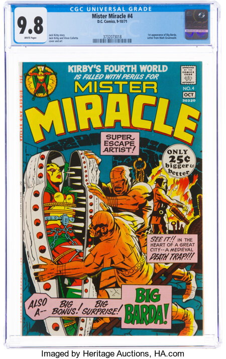 Mister Miracle #4 (DC, 1971) CGC NM/MT 9.8 White pages....