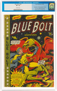 Blue Bolt #105 (Star Publications, 1950) CGC VF- 7.5 Off-white pages