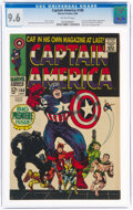 Silver Age (1956-1969):Superhero, Captain America #100 (Marvel, 1968) CGC NM+ 9.6 Off-white pages....