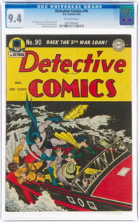 Detective Comics #90 (DC, 1944) CGC NM 9.4 Off-white pages