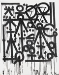 Paintings, RETNA (b. 1979). Untitled (Black & White), early 21st century. Acrylic on canvas. 71 x 60 inches (180.3 x 152.4 cm). Sig...