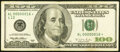Low Serial Number 16 Fr. 2175-L* $100 1996 Federal Reserve Star Note. Very Fine