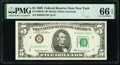Fr. 1969-B* $5 1969 Federal Reserve Star Note. PMG Gem Uncirculated 66 EPQ