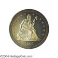 Proof Seated Quarters: , 1865 25C PR65 Cameo PCGS. A difficult date to locate in ...