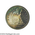 Proof Seated Quarters: , 1869 25C PR66 Cameo PCGS. One of only 600 proofs made in ...