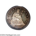 Proof Seated Quarters: , 1880 25C PR65 PCGS. Both sides reveal moderately deep ...