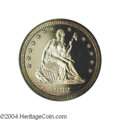 Proof Seated Quarters: , 1882 25C PR65 Cameo PCGS. The 1882 Quarter is one of the ...