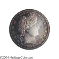 Proof Barber Quarters: , 1903 25C PR65 Cameo PCGS. Decades of storage in a Wayte ...