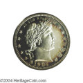 Proof Barber Quarters: , 1904 25C PR65 Cameo PCGS. The frosty devices appear to ...