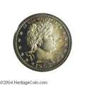 Proof Barber Quarters: , 1905 25C PR65 Cameo PCGS. Splashes of subtle aqua blue ...