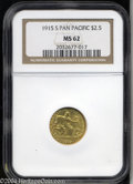 Commemorative Gold: , 1915-S $2 1/2 Panama-Pacific Quarter Eagle MS62 NGC. ...