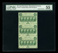 Fractional Currency:First Issue, Fr. 1312 50c First Issue Vertical Strip of Three PMG About Uncirculated 55. ...