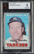 Baseball Cards:Singles (1960-1969), 1967 Topps Mickey Mantle #150 BVG EX 5....