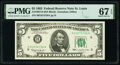 Small Size:Federal Reserve Notes, Fr. 1967-H $5 1963 Federal Reserve Note. PMG Superb Gem Unc 67 EPQ.. ...