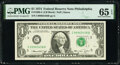 Small Size:Federal Reserve Notes, Fr. 1908-C $1 1974 Federal Reserve Note. PMG Gem Uncirculated 65 EPQ.. ...