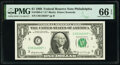 Small Size:Federal Reserve Notes, Fr. 1903-C* $1 1969 Federal Reserve Star Note. PMG Gem Uncirculated 66 EPQ.. ...
