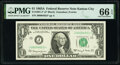Small Size:Federal Reserve Notes, Low Serial Number 4653 Fr. 1901-J* $1 1963A Federal Reserve Star Note. PMG Gem Uncirculated 66 EPQ.. ...