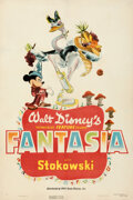 Movie Posters:Animation, Fantasia (RKO, 1940). Fine/Very Fine on Paper. One...