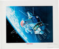 """Explorers:Space Exploration, Alexei Leonov Signed Limited Edition """"First Walk"""" Lithograph, #308/950 with COA...."""