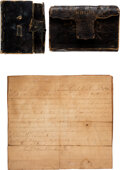 Military & Patriotic:Civil War, Civil War Diary and Bible of Vincent E. Donnan, 26th Ohio Volunteer Infantry.... (Total: 3 )