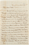Autographs:Military Figures, Confederate General Robert Hall Chilton Autograph Letter Signed....