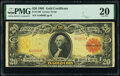 Large Size:Gold Certificates, Fr. 1180 $20 1905 Gold Certificate PMG Very Fine 20.. ...