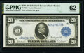 Large Size:Federal Reserve Notes, Fr. 966 $20 1914 Federal Reserve Note PMG Uncirculated 62.. ...