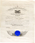 Autographs:U.S. Presidents, William McKinley Military Appointment Signed. One...
