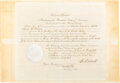 Autographs:U.S. Presidents, Ulysses S. Grant Appointment Signed. ...