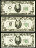 Fr. 2059-B $20 1950 Federal Reserve Note. About Uncirculated; Fr. 2060-K $20 1950A Federal Reserve Note. About Uncircula...
