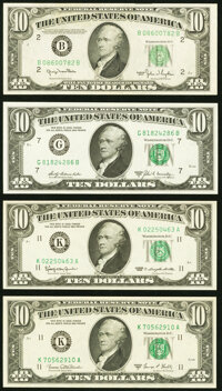 Fr. 2010-B $10 1950 Wide Federal Reserve Note. About Uncirculated; Fr. 2016-K $10 1963 Federal Reserve Note. About Uncir...