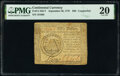 Continental Currency September 26, 1778 $50 Contemporary Counterfeit PMG Very Fine 20