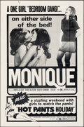 """Movie Posters:Sexploitation, Monique (Avco Embassy, 1970). Folded, Overall: Very Fine-. One Sheets (2) (27"""" X 41"""") 2 Styles. Sexploitation.. ... (Total: 2 Items)"""