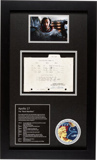 "Apollo 17 Lunar Module Flown and Used ""Lunar Surface Manifest"" for the Moon Rocks Gathered on the Mission, Som..."