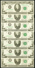 Small Size:Federal Reserve Notes, Fr. 2072-J $20 1977 Federal Reserve Note. Choice Crisp Uncirculated;. Fr. 2073-L $20 1981 Federal Reserve Note. ...