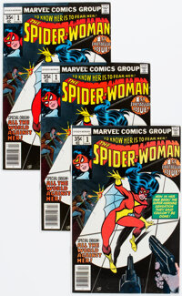 The Spider-Woman #1 Group of 16 (Marvel, 1978) Condition: Average VF-.... (Total: 16 Comic Books)