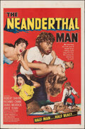 """Movie Posters:Horror, The Neanderthal Man (United Artists, 1953). Folded, Fine/Very Fine. One Sheet (27"""" X 41""""). Horror.. ..."""