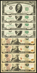 Small Size:Federal Reserve Notes, Fr. 2011-B $10 1950A Federal Reserve Note. Choice Crisp Uncirculated;. Fr. 2027-B $10 1985 Federal Reserve Notes. Three Co... (Total: 8 notes)