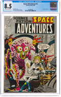 Golden Age (1938-1955):Science Fiction, Space Adventures #12 (Charlton, 1954) CGC VF+ 8.5 Off-white to white pages....