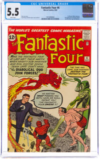 Fantastic Four #6 (Marvel, 1962) CGC FN- 5.5 White pages