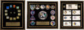 Explorers:Space Exploration, Group of Three Framed Apollo Presentation Pieces Featuring Mission Patches, Launch Day Covers, and Matchbooks. ... (Total: 3 Items)