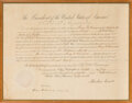 Autographs:U.S. Presidents, Abraham Lincoln Consul Appointment Signed. ...