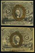 Fr. 1232 5¢ Second Issue New; Fr. 1233 5¢ Second Issue New