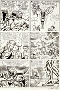 Original Comic Art:Story Page, Jack Kirby and Dick Ayers The Avengers #1 Story Page 21 Original Art (Marvel, 1963)....