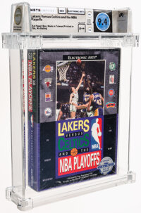 Lakers Versus Celtics and the NBA Playoffs - Wata 9.4 A++ Sealed, GEN Electronics Arts 1990 USA