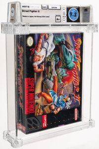 Street Fighter II - Wata 9.2 A+ Sealed [Made in Japan, First Production], SNES Capcom 1992 USA