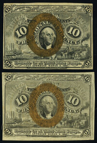 Fr. 1244 10¢ Second Issue New; Fr. 1245 10¢ Second Issue New. ... (Total: 2 notes)