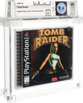 Video Games:Playstation, Tomb Raider - Wata 9.4 A Sealed [Pixel ESRB, First Production], PS1 Eidos 1996 USA....