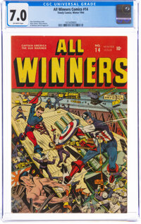 All Winners Comics #14 (Timely, 1944) CGC FN/VF 7.0 Off-white pages